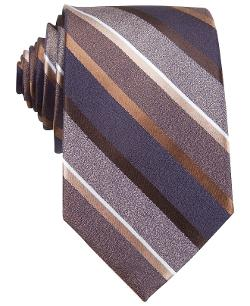 Gotham Stripe Tie by Bar III in Unbroken