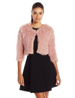 Women's Faux-Fur Jacket by Lucca Couture in Scream Queens