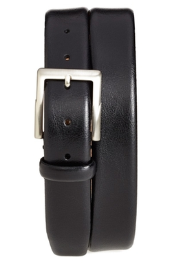 'Rafferty' Leather Belt by Trafalgar in Grease