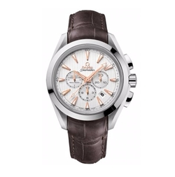 Aqua Terra Silver Dial Brown Leather Watch by Omega in Fifty Shades of Grey
