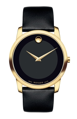 Museum Leather Strap Watch by Movado in Unfinished Business