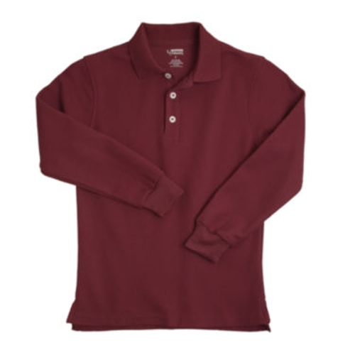 Long-Sleeve Polo Shirt by French Toast in Before I Wake