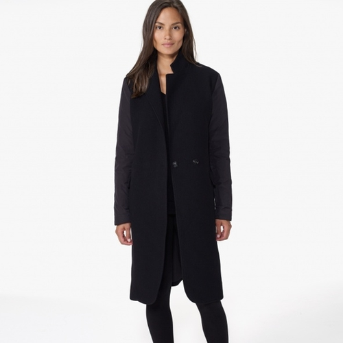 Puffer Sleeve Wool Coat by James Perse in Keeping Up With The Kardashians - Season 11 Episode 4