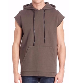 Sleeveless Hoodie by Hudson in Empire