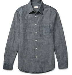Cotton-Chambray Shirt by Club Monaco in Scream Queens