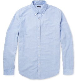Button-Down Collar Cotton Oxford Shirt by J.Crew in Cut Bank