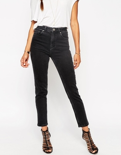 Farleigh High Waist Slim Mom Jeans by Asos in Love