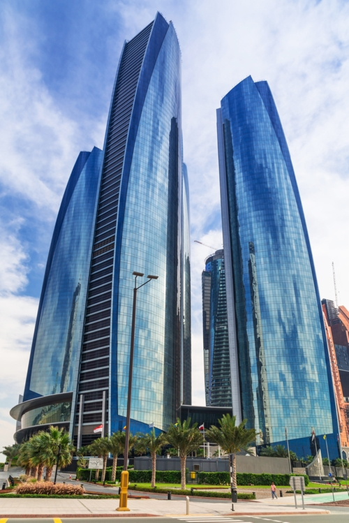 Etihad Towers Abu Dhabi, United Arab Emirates in Furious 7