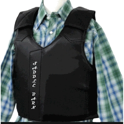 Faux Leather Bull Riding Vest by Saddle Barn in The Longest Ride