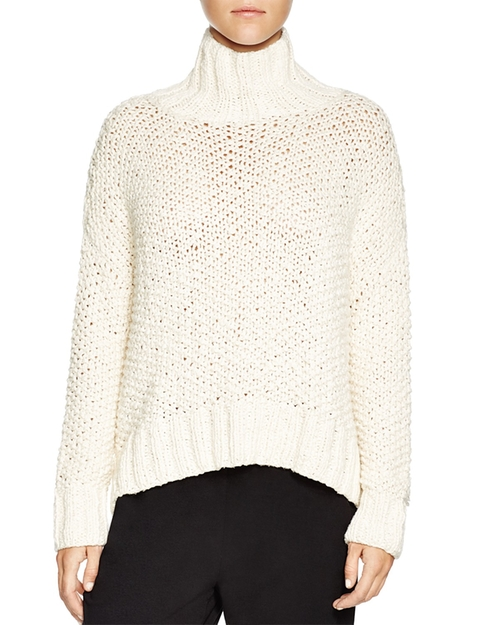 Chunky Knit Turtleneck Sweater by Eileen Fisher in Keeping Up With The Kardashians - Season 11 Episode 9