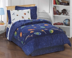 Dream Factory Outer Space Satellites Boys Comforter by CHF Industries in Before I Wake