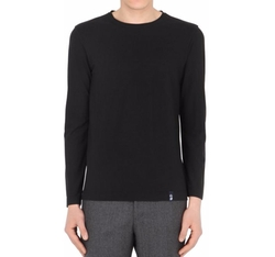 Cotton Crepe Jersey Long Sleeve T-Shirt by Drumohr in Jack Ryan