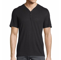 Snap-Front Henley T-Shirt by John Varvatos Star USA in Shadowhunters