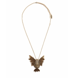Crystal-Embellished Swan Necklace by Lanvin in Gypsy
