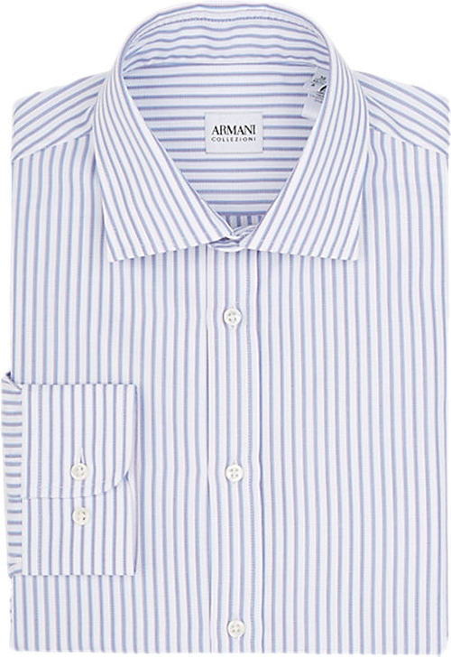 Shadow-Stripe Dress Shirt by Armani Collezioni in The Flash