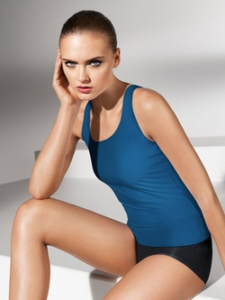Pure Tank Top by Wolford in Empire