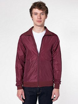 Nylon Taffeta Windbreaker Jacket by American Apparel in Need for Speed