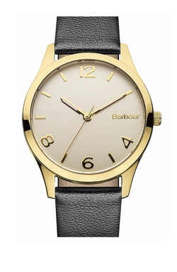 'Heritage' Leather Strap Watch by Barbour in Billions