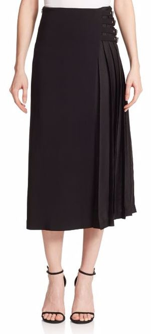 Booth Buckle Midi Skirt by A.L.C. in Pretty Little Liars - Season 6 Episode 17