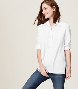 Henley Tunic Softened Shirt by Loft in The Boy