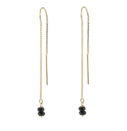 Black Spinel Threader Earrings by Peggy Li in How To Get Away With Murder