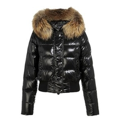 Alpes Quilted Fur Hood Down Jacket by Moncler in Keeping Up With The Kardashians