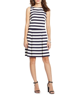 Striped Fit-And-Flare Dress by Lauren Ralph Lauren in Jane the Virgin
