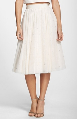 'Odella' Embellished Tulle Skirt by Ted Baker London in Scream Queens