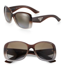 Oversized Square Glam Sunglasses by Prada in Empire