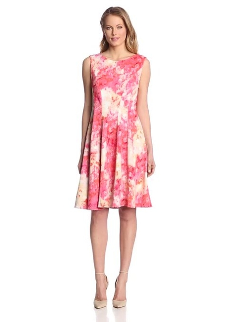 Floral-Print Fit-And-Flare Dress by Sandra Darren in Ex Machina