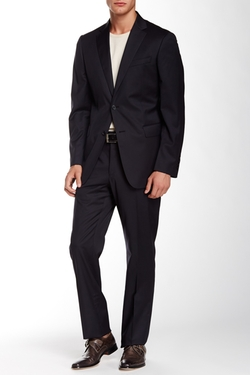 Notch Lapel Wool Suit by John Varvatos Collection in Nashville