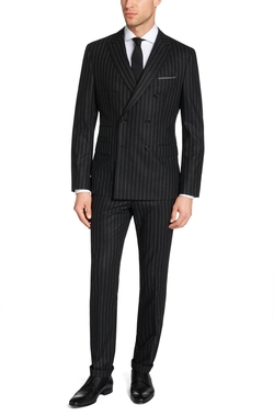 Nando/Bill Italian Virgin Wool Suit by Hugo Boss in Billions