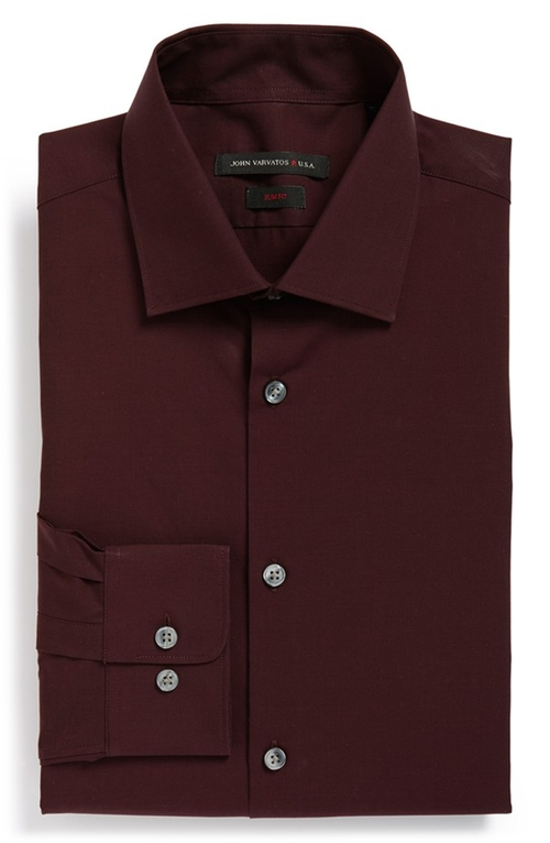Slim Fit Solid Dress Shirt by John Varvatos Star USA in How To Get Away With Murder - Season 2 Episode 6