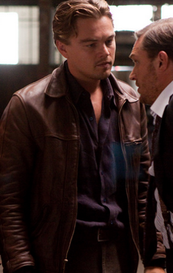 Custom Made Button-Down Shirt by Jeffrey Kurland (Costume Designer) and Anto Beverly Hills (Tailor) in Inception