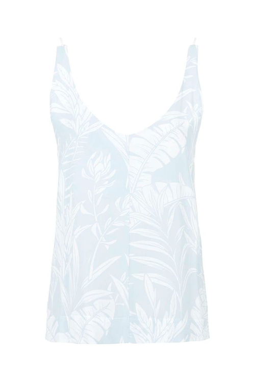 V-Neck Palm Print Cami Top by Topshop  in Pretty Little Liars - Season 6 Episode 13