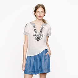 Baja Embroidered Top by J.Crew in Pitch Perfect 2