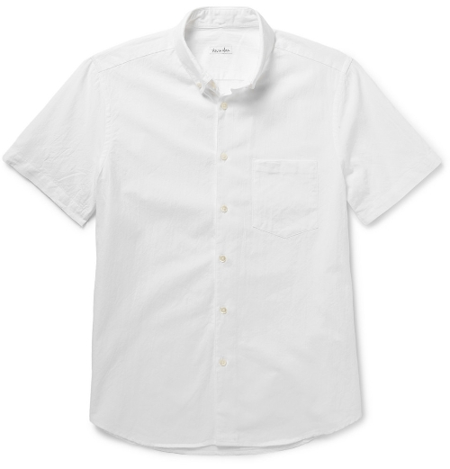 Button-Down Collar Cotton Oxford Shirt by Steven Alan in Love & Mercy
