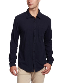 Classic Jersey Long Sleeve Button Down Shirt by Mod-O-Doc in Trainwreck