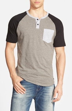 'Come Up' Colorblock Henley T-Shirt by RVCA in Pretty Little Liars