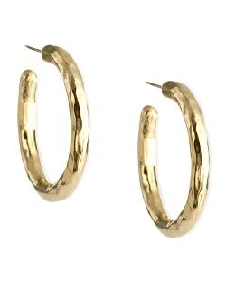 Glamazon Yellow Gold Hoop Earrings by Ippolita in Southpaw