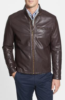 Lambskin Leather Moto Jacket by Cole Haan in Ride Along