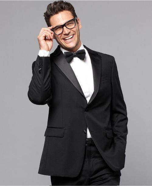 Jacket Black Tuxedo Trim Fit by Tommy Hilfiger in Laggies