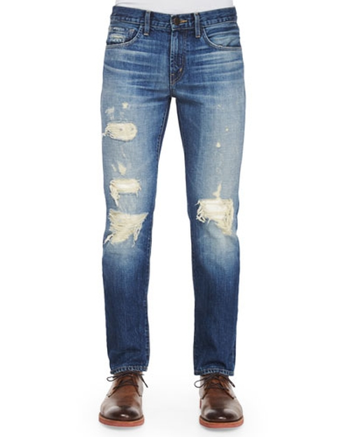 Tyler Deconstructed Ripped Denim Jeans by J Brand Jeans in Ballers - Season 1 Episode 4