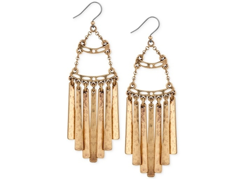 Gold-Tone Antiqued Fringe Drop Earrings by Lucky Brand  in Pretty Little Liars - Season 6 Episode 15