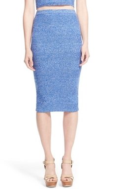 'Morena' Merino Wool Knit Pencil Skirt by Alice + Olivia in Scream Queens