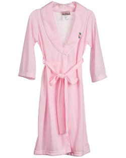 Girls Solid Pink Bath Robe Wrap by Laura Dare in Black or White