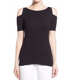 'Deneuve' Knit Cold Shoulder Top by Bailey 44 in Snowden