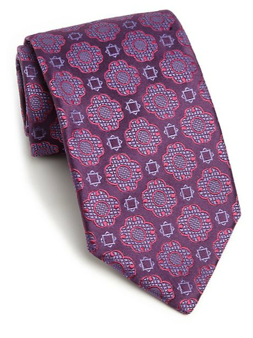 Medallion Silk Tie by Charvet in The Mindy Project