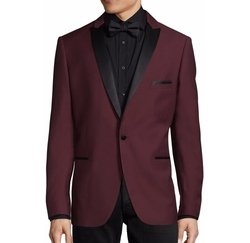 Slim Peak Lapel Tuxedo Jacket by Paisley & Gray in Love, Simon