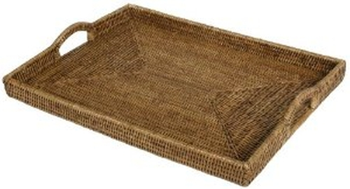 Rattan Rectangular Tray by Caspari in The Boy Next Door